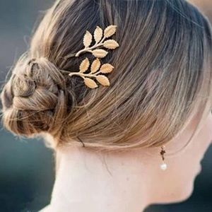 🎉 Golden Leaf Hair Clip Accessory